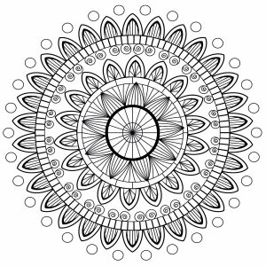 Cute Anti stress Mandala