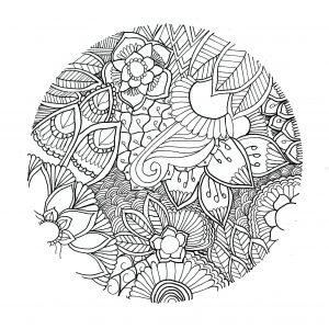 Mandala to print cercle by chloe