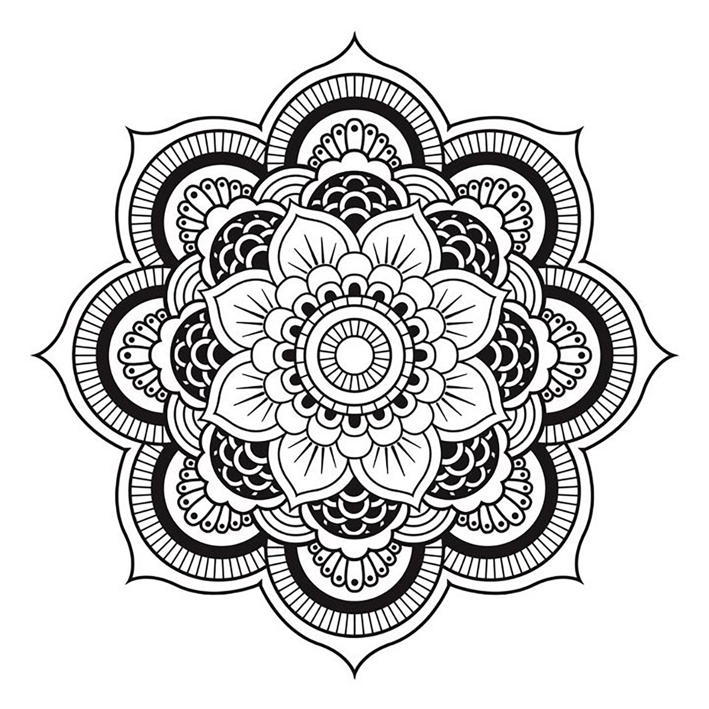 Simple Mandala, perfect for a Tatto for shoulder or neck