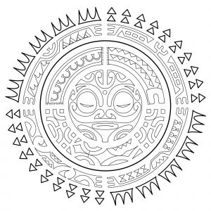 Polynesian Tattoos : The sun