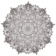 Very detailled mandala by Anvino