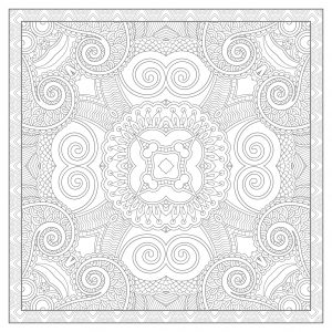 Complex and elaborated Mandala