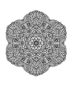 Very difficult and hand drawn Mandala
