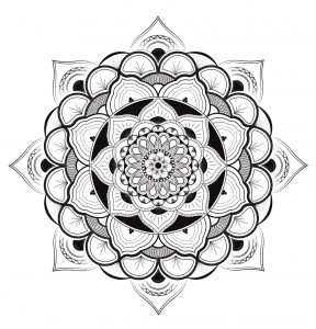 Exclusive and very fine Mandala, by Louise
