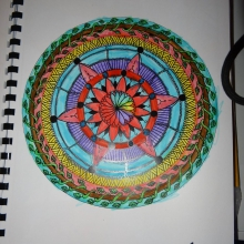 colored-mandala-by-Kelya-5-years-old free to print