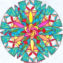 colored-mandala-by-Lady-Marianne free to print