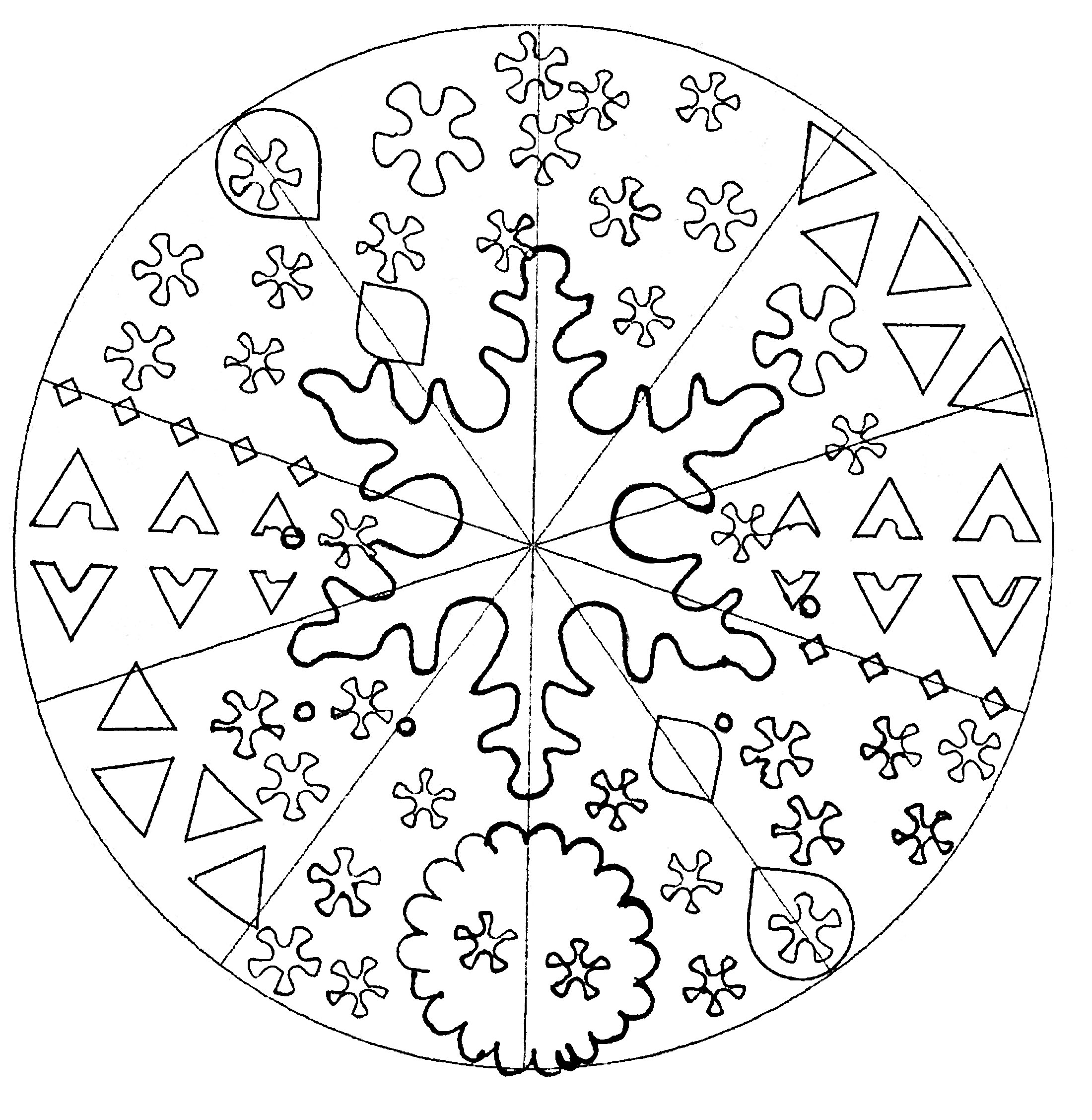 Offer yourself a parenthesis of relaxation with this beautiful Mandala coloring page, with the colors that please you the most.