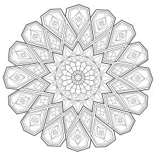 Mandala abstract zen antistress 1