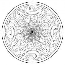 Mandala abstract zen antistress 2