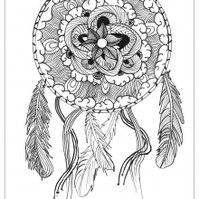 mandala-to-download-magical-dreamcatcher free to print