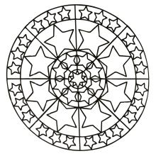 mandala-to-download-stars free to print