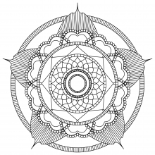 Mandala to print and color mpc design 2