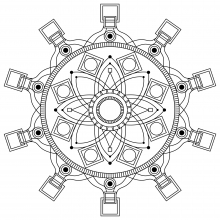 Mandala to print and color mpc design 3