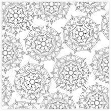 Mandala to print and color mpc design 4