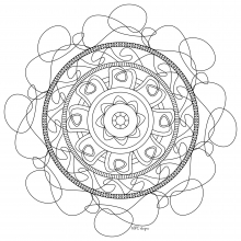 Mandala to print and color mpc design 6