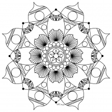 Mandala to print and color mpc design 7