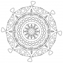 Mandala to print and color mpc design 9