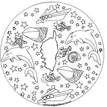 Mandala to print corsica