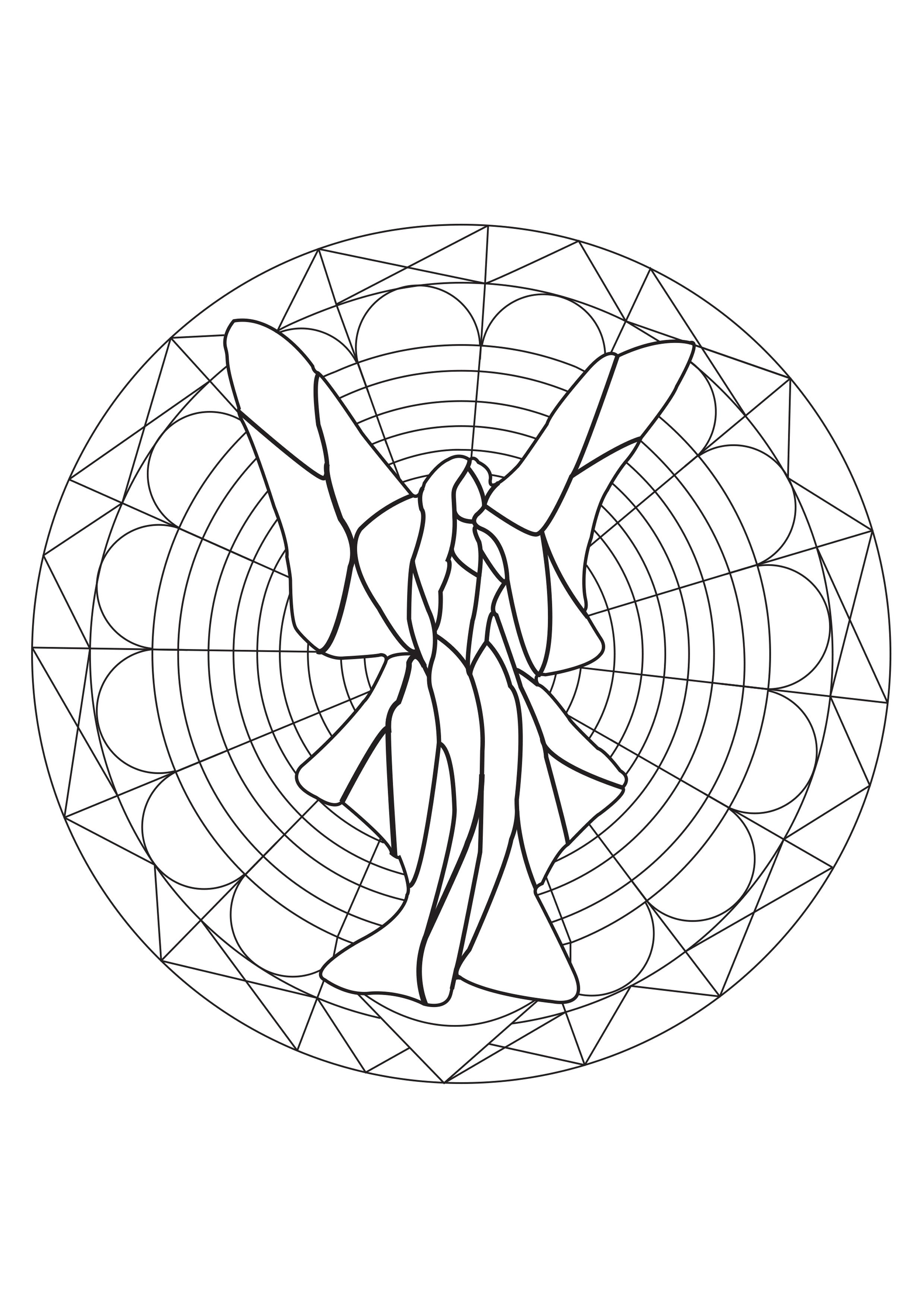 Fairy Stained flass Mandala - Zen & Anti-stress Mandalas