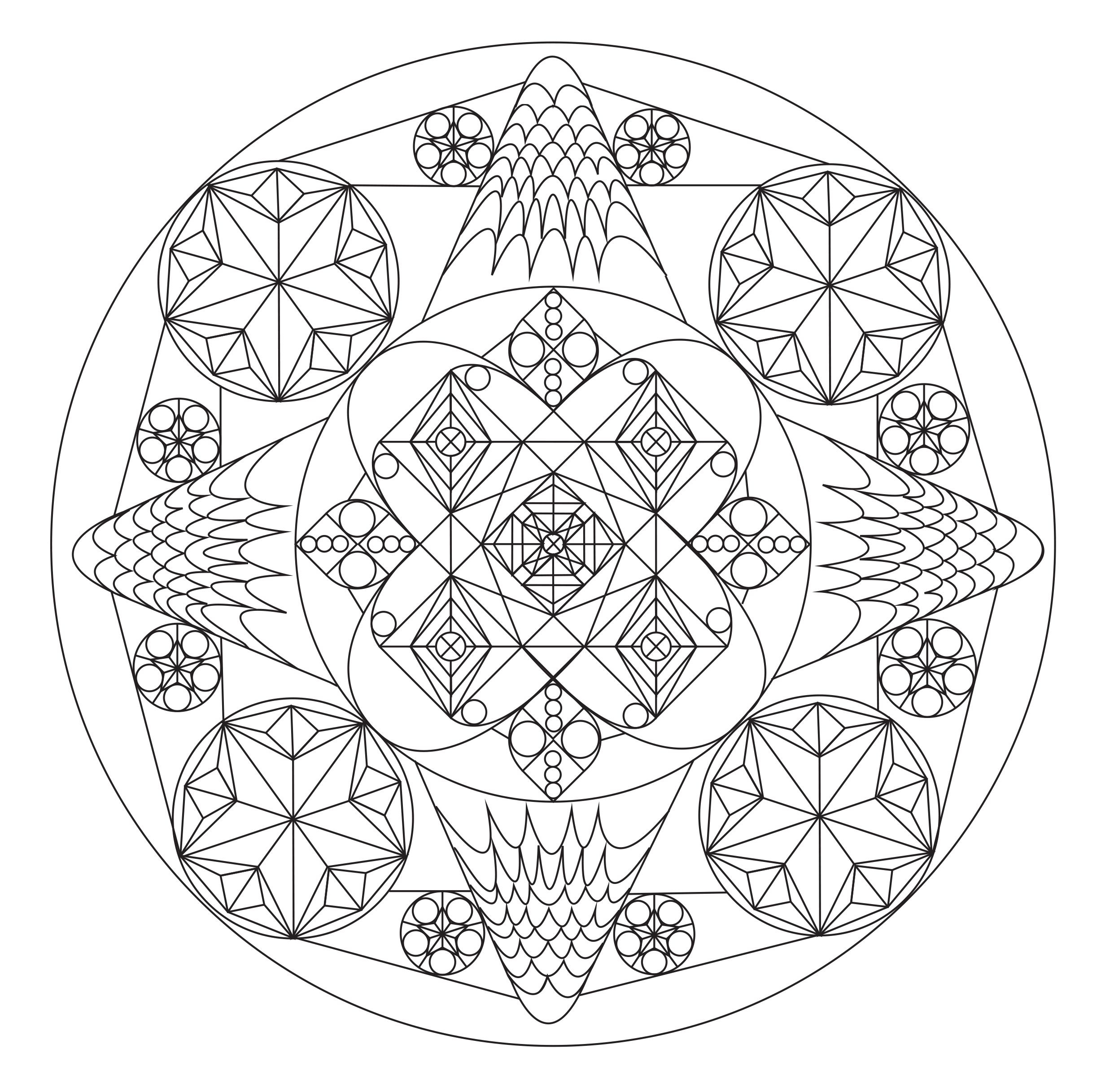Exclusive Zen & Anti-stress Mandala. Coloring mandalas push aside thoughts and let your creativity flow