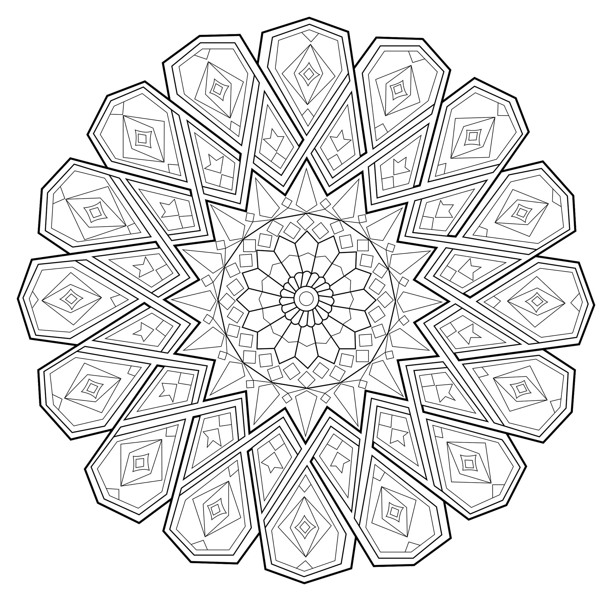 Express your soul, your passion, and the result will certainly be perfect. Let yourself be guided by your instinct to color this incredible Mandala !