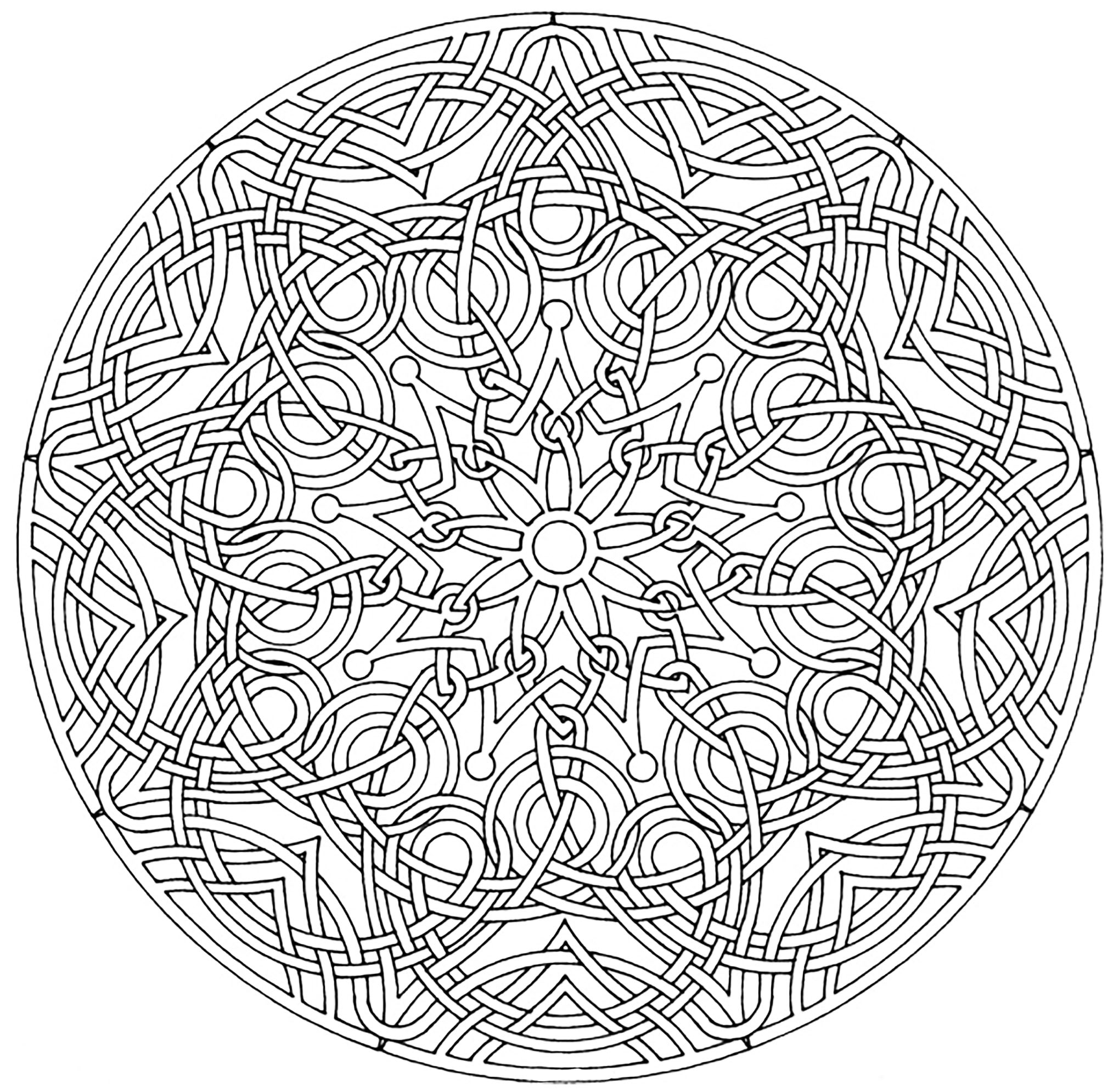 When coloring really becomes Art Therapy ... This is the case with this Mandala very harmonious and delicate. You will quickly feel the benefits of coloring. Do whatever it takes to get rid of any distractions that may interfere with your coloring.