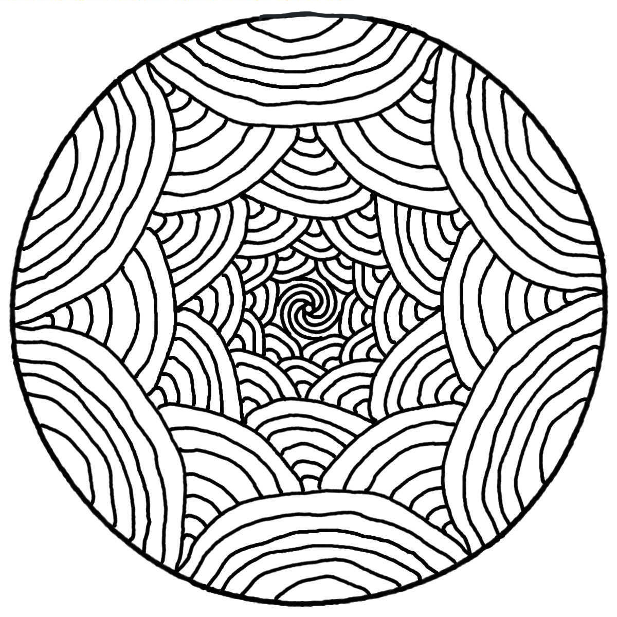 A Mandala guaranteed 100% Zen, for a moment of pure relaxation. Do whatever it takes to get rid of any distractions that may interfere with your coloring.