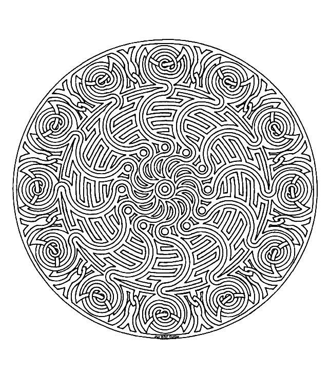 Coloring Page Mandala To Color Zen Relax Free 1 Template Full Of Details And Harmony Perfect For Relaxation