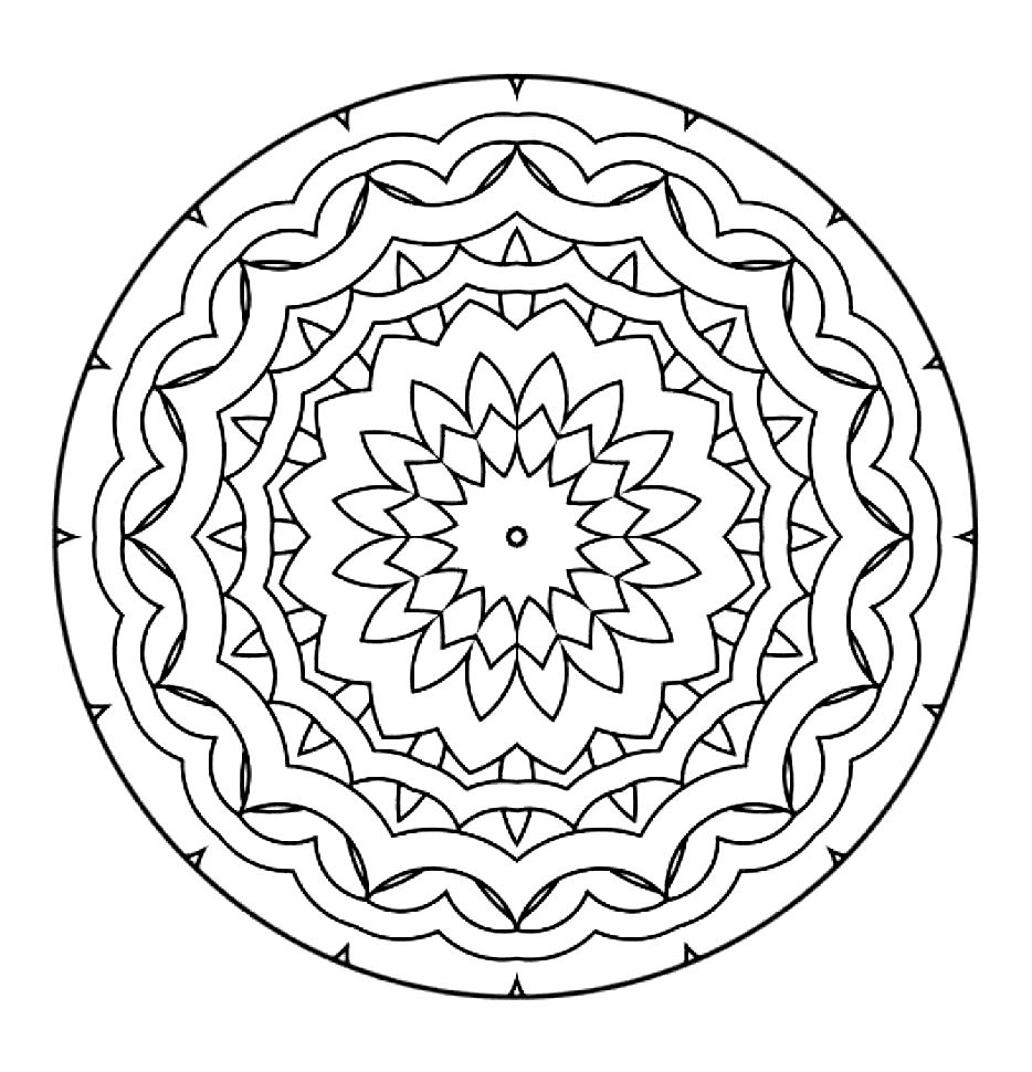 Color zen metacritic - Cool Relaxing Mandala Drawing Pretty Simple From The Gallery Zen Anti Stress