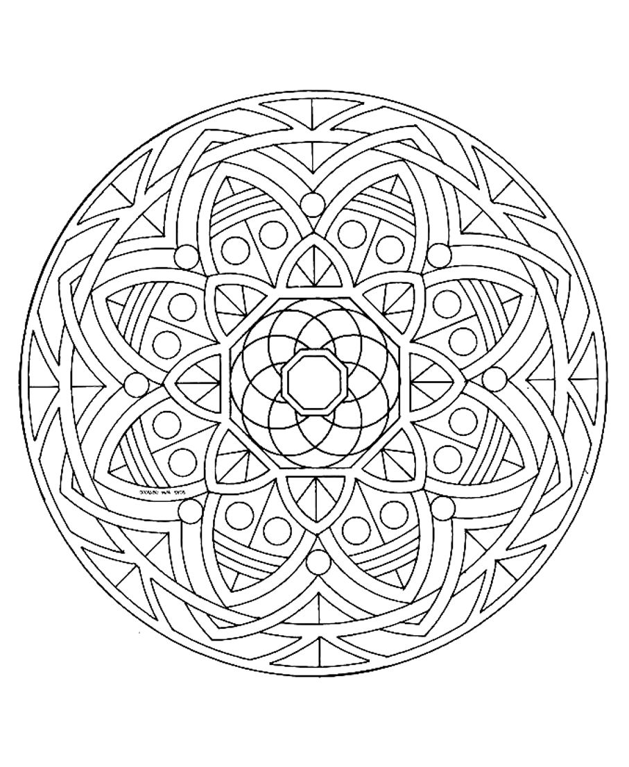 A Mandala drawing looking like a stained glass