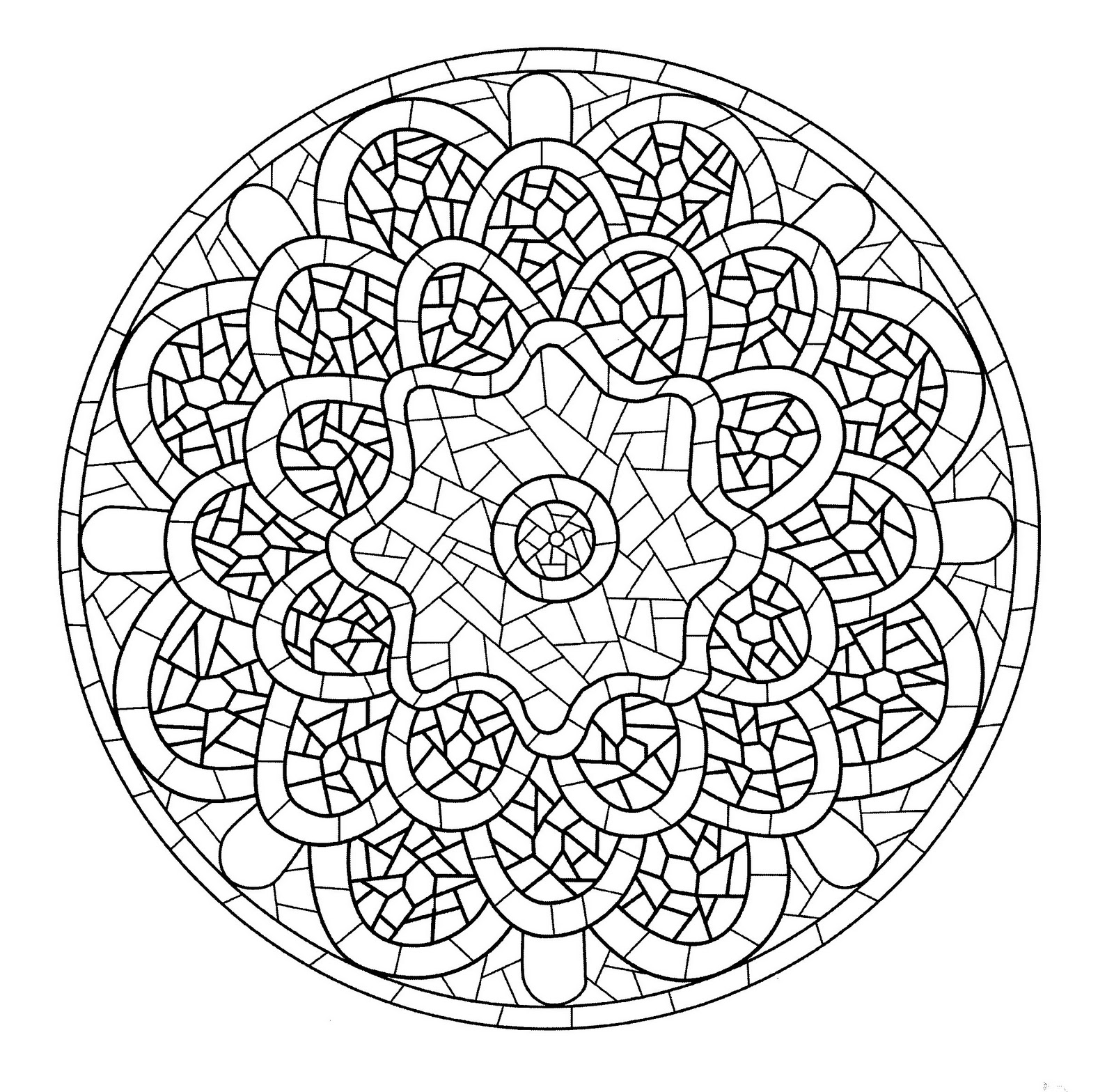 Mandala template looking like a stained glass