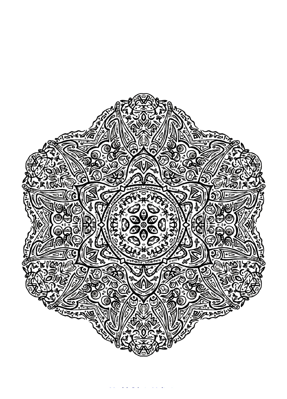 Lot of details insite this Mandala drawing forming a sort of flower