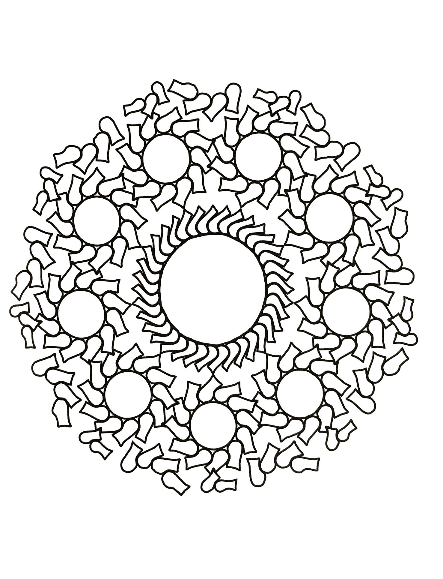 Unique Zen & Anti-stress Mandala. Designing and coloring mandalas give you a feeling of calmness. The practice of coloring generates wellness, quietness and also stimulates brain areas related to motor skills, the senses and creativity.