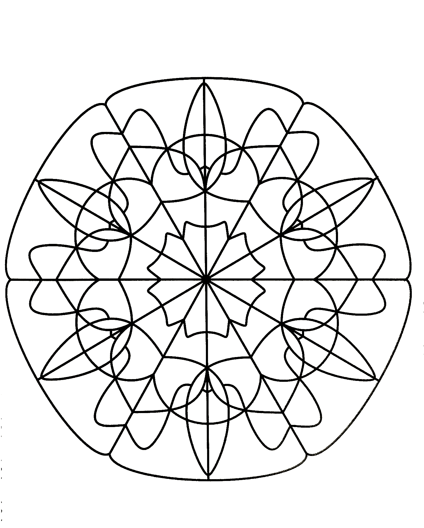 When coloring can really relax you ... This is the case with this Mandala coloring page of high quality.