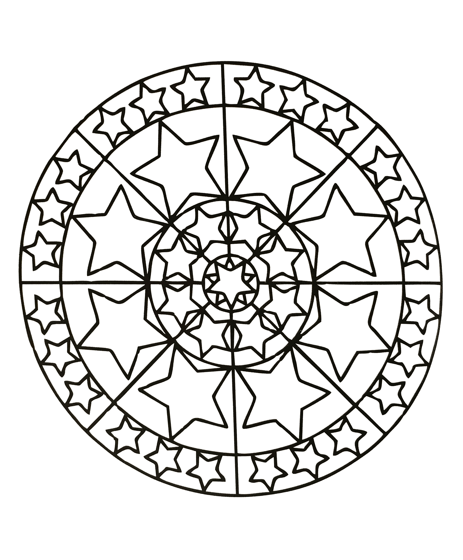 Mandala To Download Stars