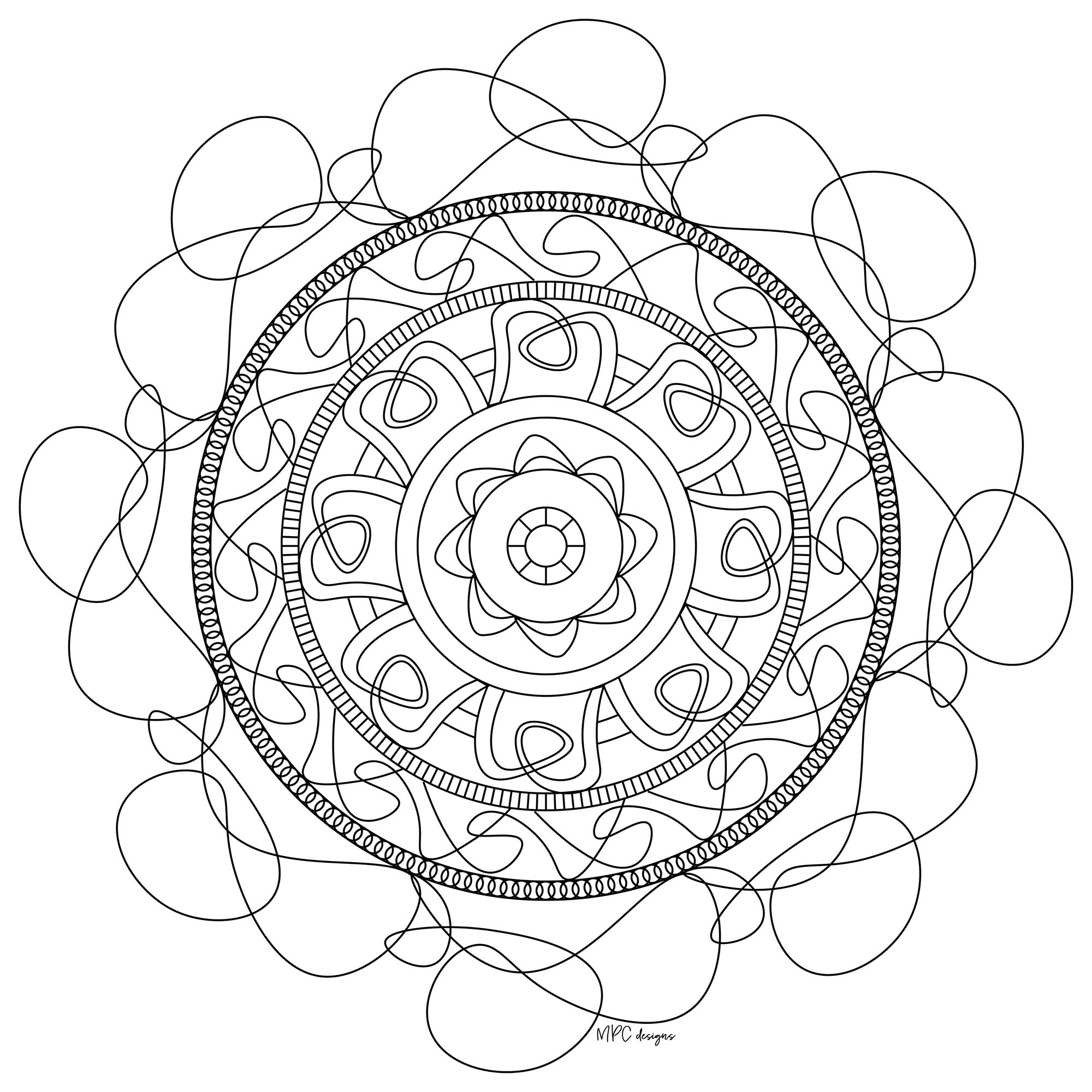 Offer yourself a parenthesis of Zen with this beautiful Mandala coloring page, with the colors that please you the most. You will quickly feel the benefits of coloring.