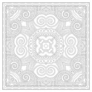 Squared very complex Mandala