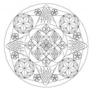 Abstract and exclusive Mandala