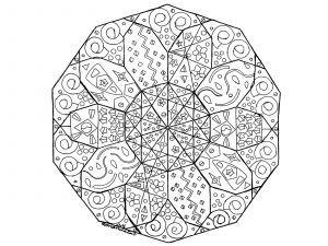Hand drawn abstract Mandala