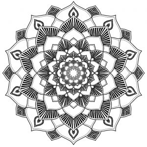 Soothing mandala with cute patterns