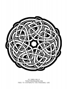 """Celtic art"" Mandala with interlaced elements"