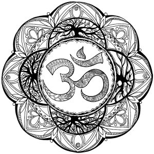 Complex Mandala with Om Symbol in center