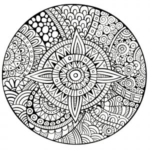 Thick lines Mandala