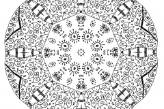 Mandala to color zen relax free (11)