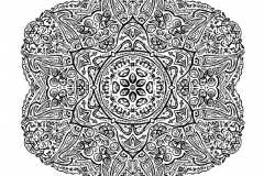 Mandala to color zen relax free (13)