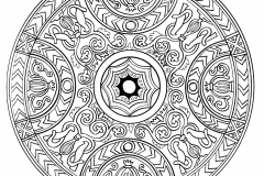 Mandala to color zen relax free (14)