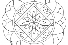 Mandala to color zen relax free (15)