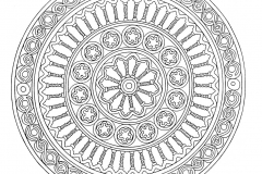 Mandala to color zen relax free (8)