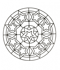 Mandala to download with stars