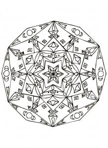 Hand drawn anti stress Mandala